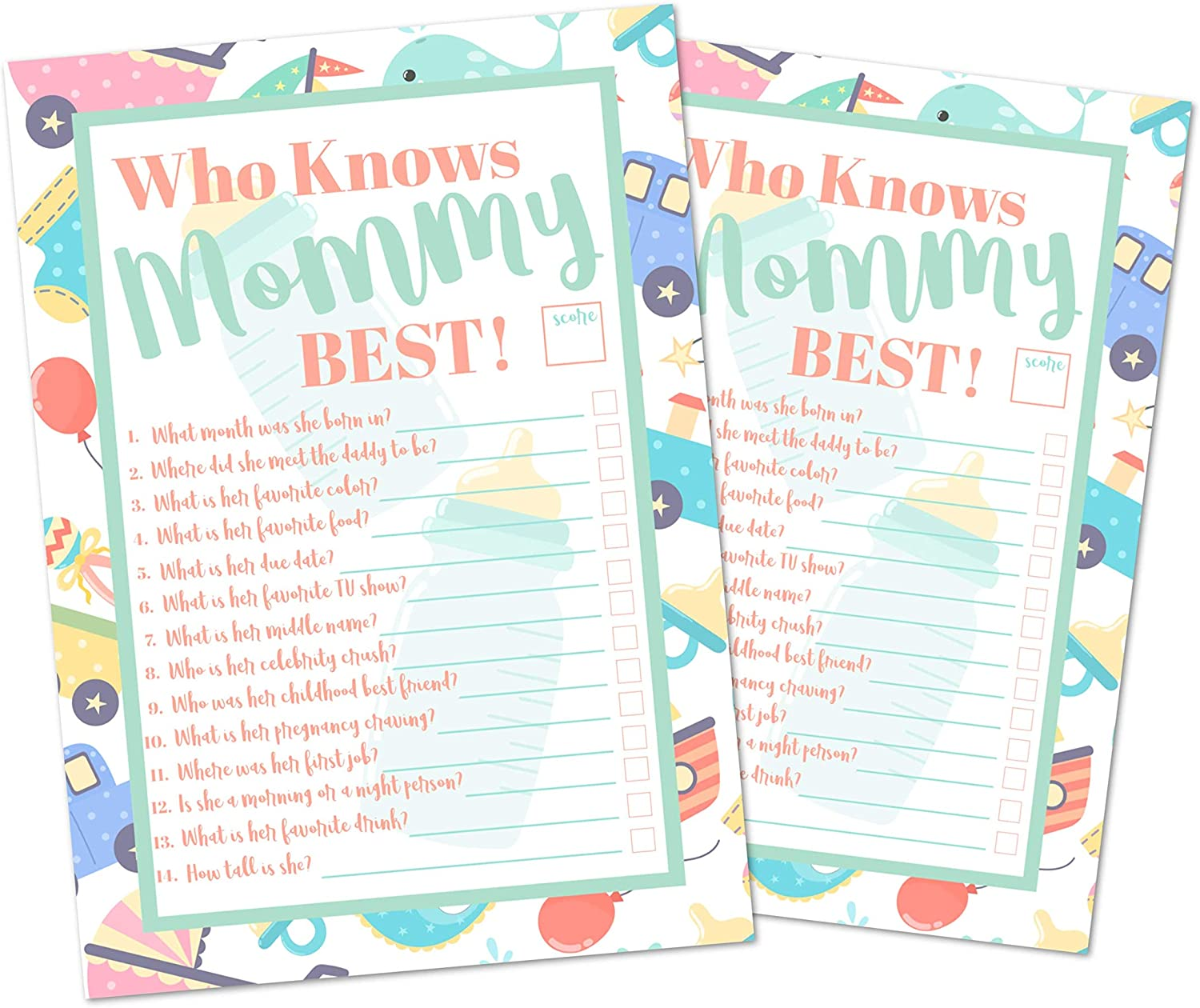 Baby Shower Memory Game Baby Shower Who Knows Mommy Best Game Stork Instant Download so1 Memory Who Knows Mommy Stork Orange White
