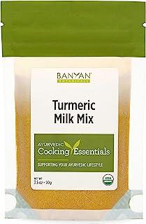 Banyan Botanicals Turmeric Milk Mix – Organic Turmeric Latte Mix with Ashwagandha & Cardamom – Caffeine Free Golden Milk M...