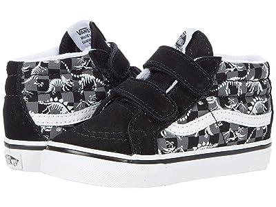 Vans Kids SK8-Hi Zip MTE (Infant/Toddler) ((Dino Skeleton) Glow/Black) Boys Shoes
