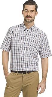 Arrow 1851 Men's Short Sleeve Hamilton Poplin Shirt Button Down Shirt