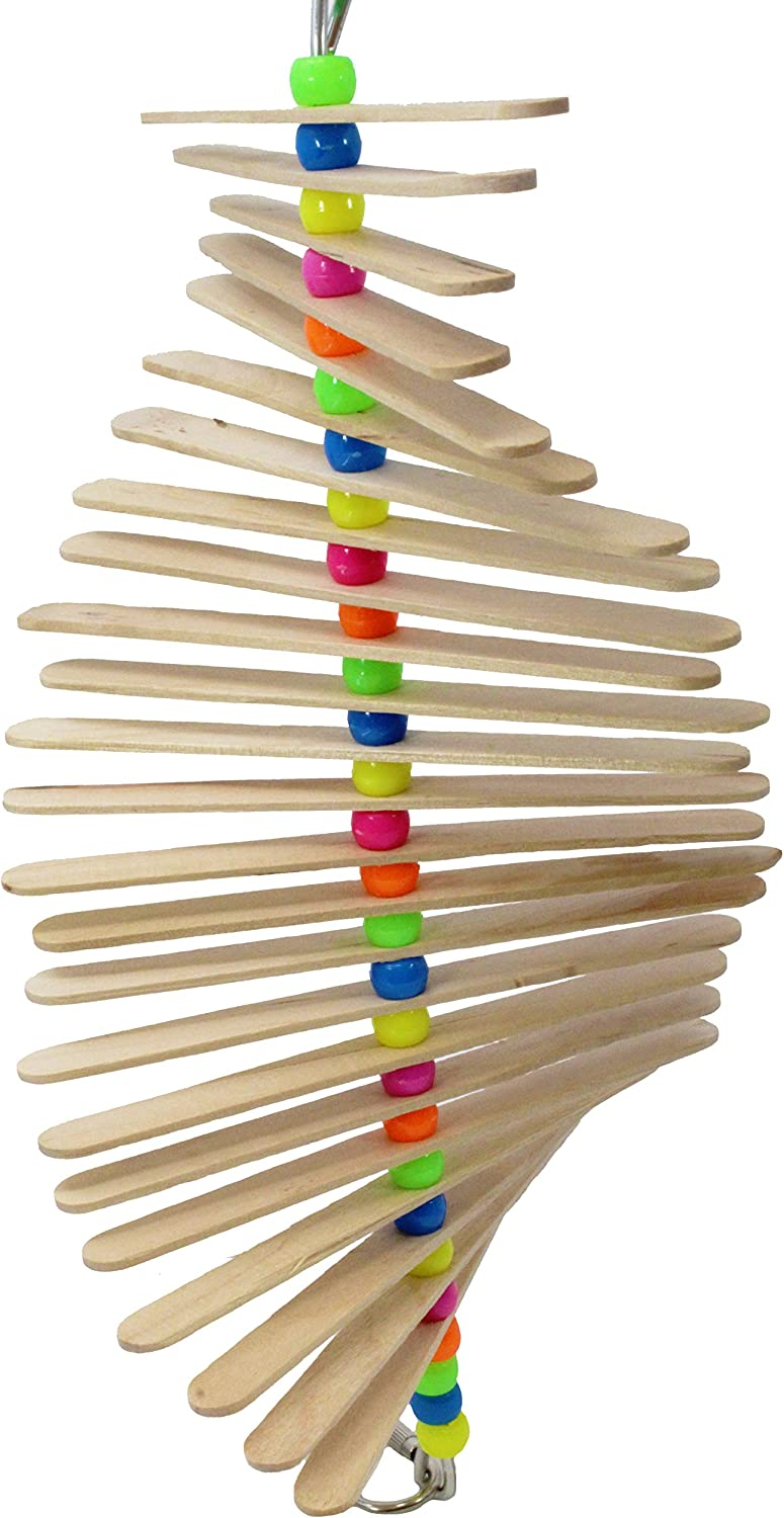 Bonka Bird Toys 858P Long Mini Stick Bird Toy Parred cage Craft Toys Cages Cockatiel Parrakeet. Quality Product Hand Made in The USA.