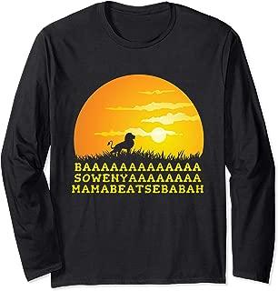 BAAA SOWENYA MAMABEATSEBABAH Song African King Lion Long Sleeve T-Shirt