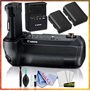 Canon BG-E22 Battery Grip with Canon LP-E6N Lithium-Ion Battery 2 Pack and Charger