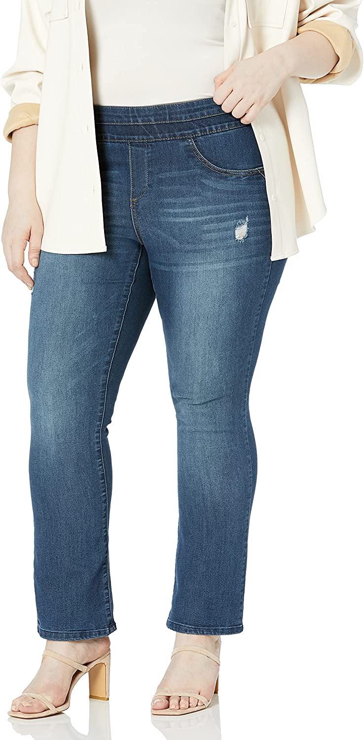 Democracy Women's Plus-Size Ab Solution Pull on Itty Bitty Boot