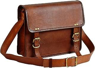"""13"""" Leather Messenger Bag Laptop case Office Briefcase Gift for Men Computer Distressed Shoulder Bag"""