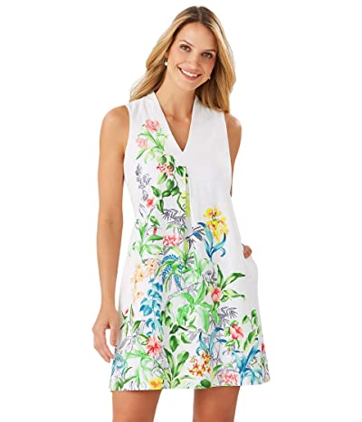 Tommy Bahama Tambay Trellis Sleeveless Shift Dress (White) Women