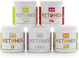 MCM Nutrition Ketones Variety Pack – Exogenous Ketones Supplement & BHB - Boosts Energy - Ketone Drink for Ketosis - Instant Keto Mix, Quick Ketosis & Helps with The Keto Diet (5 Jars - 75 Servings)