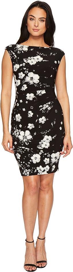 LAUREN Ralph Lauren Novellina Assouline Floral Boarder Matte Jersey Dress