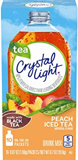 Sponsored Ad - Crystal Light Peach Iced Tea Drink Mix, 10 Count (Pack of 12)