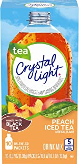 Crystal Light Peach Tea Drink Mix (60 On the Go Packets, 6 Canisters of 10)