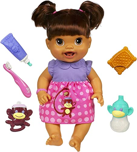 Baby Alive Baby's New Teeth Doll - Brunette Puppe aus den USA