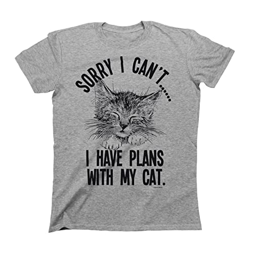 eeb22756 I Have Plans with My Cat Mens & Ladies Unisex Fit Slogan