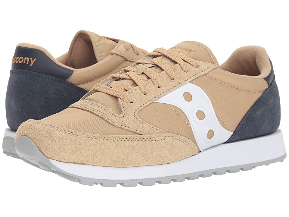 Saucony Originals Jazz Original (Tan/Navy) Men