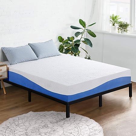 Olee Sleep Aquarius 10-Inch Memory Foam Mattress in Blue, Queen