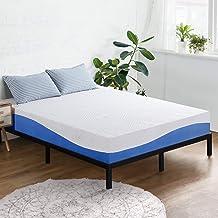 Olee Sleep 10 Inch Gel Infused Layer Top Memory Foam Mattress, Full, Blue