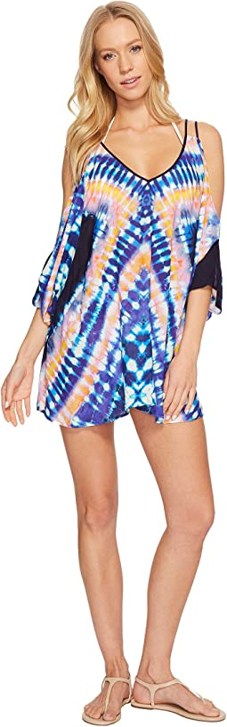 Moonlight Tie-Dye Tunic Cover-Up