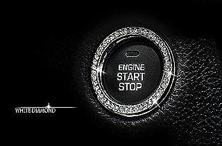 برچسب حلقه کریستال نشان داخلی اتومبیل MIYATO کلید دکمه اشتعال موتور شروع موتور