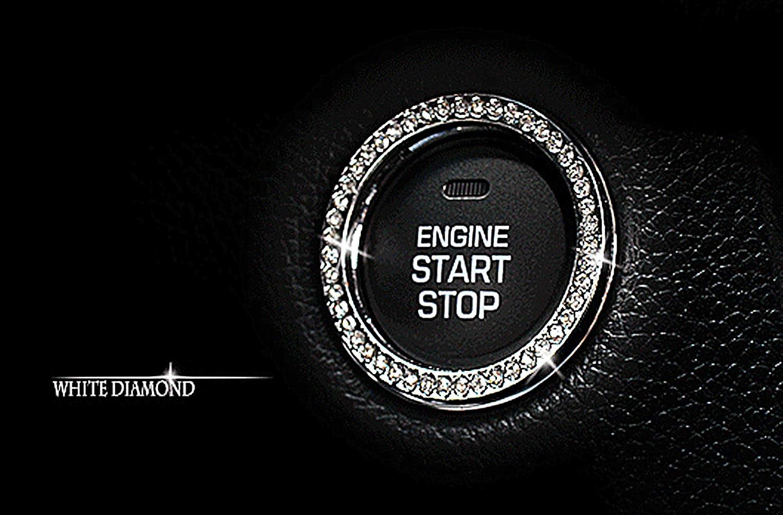 Personality Sales Washington Mall Car Interior Emblem Automotive Ring Crystal Sticker