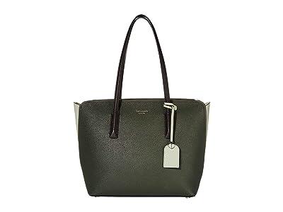 Kate Spade New York Margaux Medium Tote (Deep Evergreen Multi) Handbags
