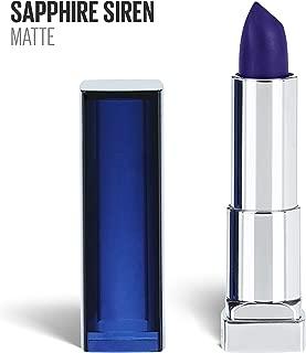 Maybelline New York Color Sensational Blue Lipstick Matte Lipstick, Sapphire Siren, 0.15 oz, 1 Count
