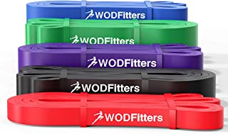 WODFitters Pull Up Assistance Bands Set - Stretch Resistance Bands - Mobility Bands - Powerlifting Bands, Durable Workout / Exercise Bands - 5 Band Set