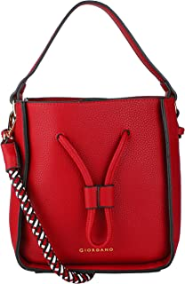 Giordano Women's Hobo Handbags Red
