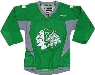 NHL Chicago Blackhawks Youth Boys St. Patrick's Day Green Replica Jersey