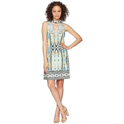 Hale Bob Travel Bright Microfiber Jersey Dress (Mint) Women