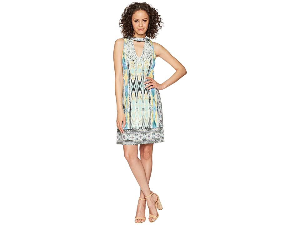 Hale Bob Travel Bright Microfiber Jersey Dress (Mint) Women