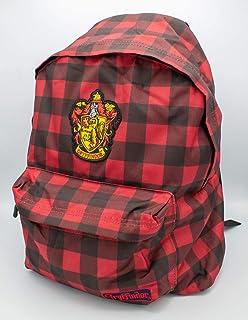 cotton division Mochila Harry Potter Cresta Gryffindor Patrón Vichy Cuadros 34x44x13cm Rojo Negro
