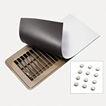 (3) Vent Cover Magnets for Your AC Registers, 5.5 Inch by 12 Inch - Includes 12 Powerful Neodymium Magnets - Heavy Duty Floor, Ceiling, Wall Vent Covers for RV, Home, HVAC, AC & Furnace Vents, White