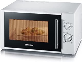 SEVERIN Four Micro-ondes, 28L, 900W, 5 niveaux de puissance, Minuteur 35 min, Plateau tournant amovible (Ø 31,5cm), Blanc,...