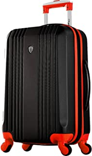 "Olympia Apache Ii 21"" Carry-on Spinner, Black/Red"