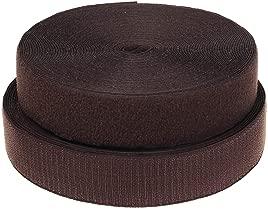 TUKA Cintas de coser con velcro 25 mx 50 mm, no autoadhesivas, 50 mm de ancho, gancho de 25 my cinta de 25 m, dorso sin adhesivo, cinta de velcro, marrón, TKB5030 marrón