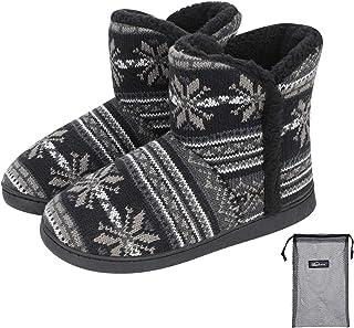 Unisexe Chaussons Montants Automne-hiver Pantoufle Cachemire Doublure Thermique Femme Homme Bottine Botte Basse Doux Confo...