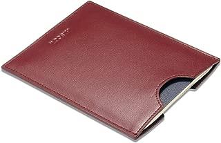 HISCOW Minimalist Passport Sleeve - Italian Calfskin (Wine Red)