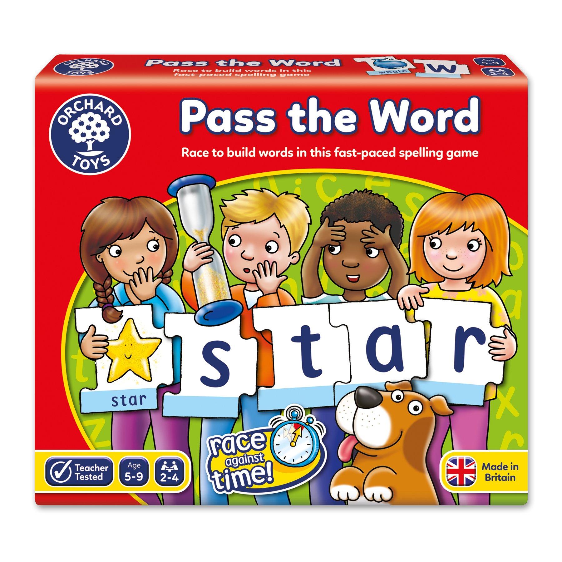 Orchard Toys Pass The Word-Juego Infantil de deletreo (Alfabeto inglés), 5+ (034): Amazon.es: Juguetes y juegos