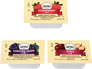 Heinz Jelly & Jam Assortment (0.5 oz Packets, Pack of 200)