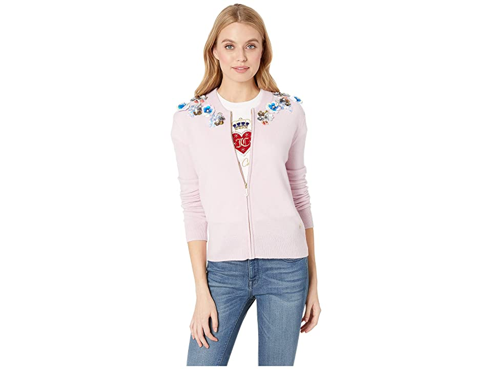Juicy Couture Embellished Cashmere Cardigan (Dusty Pink) Women