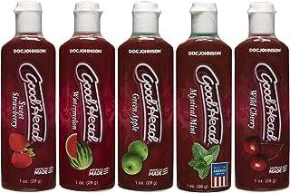 Doc Johnson Goodhead, Assorted Flavors, 5 ct, White, 5 X 1 oz. (5 X 28 g) (1360-11-AM)