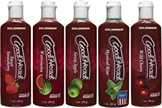 Doc Johnson Goodhead, Variety Pack of 5 Flavors, 1-ounce Bottles in 5-count Package