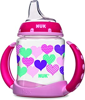 NUK Learner Cup with Silicone Spout, Assorted Colors 1 ea (Pack of 3)