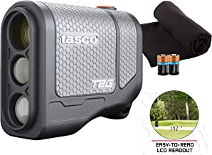 Tasco Tee-2-Green (Standard Version) Golf Laser Rangefinder PlayBetter Pack | 2019 Release | 5X Mag, 1 Yard Accuracy, Scan Mode, Case (+Microfiber Towel & Two CR2 Batteries)