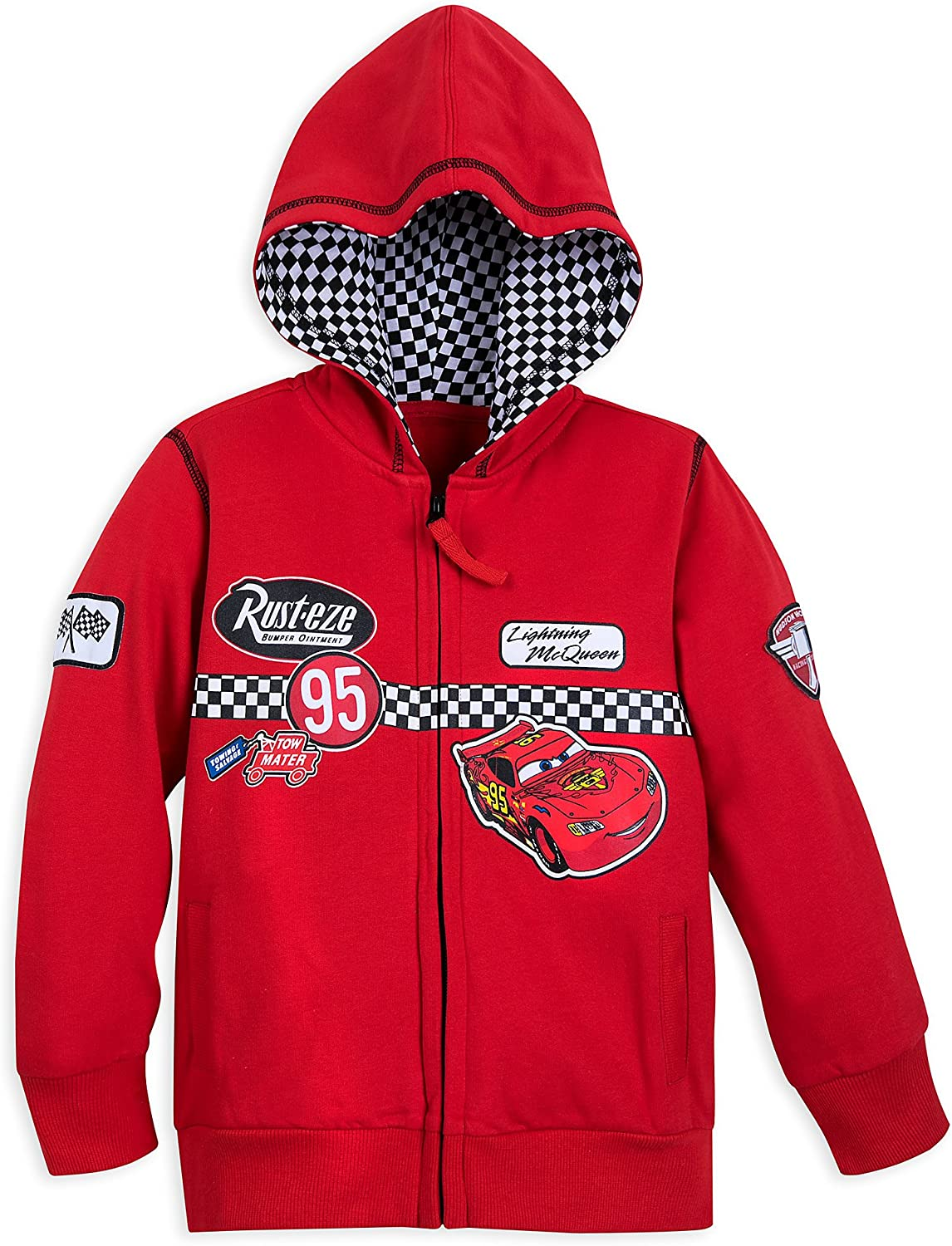 Disney Cheap sale Lightning Fresno Mall McQueen Hoodie for - Cars Red Boys