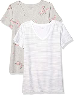 Women's 2-Pack Classic-Fit Short-Sleeve V-Neck T-Shirt