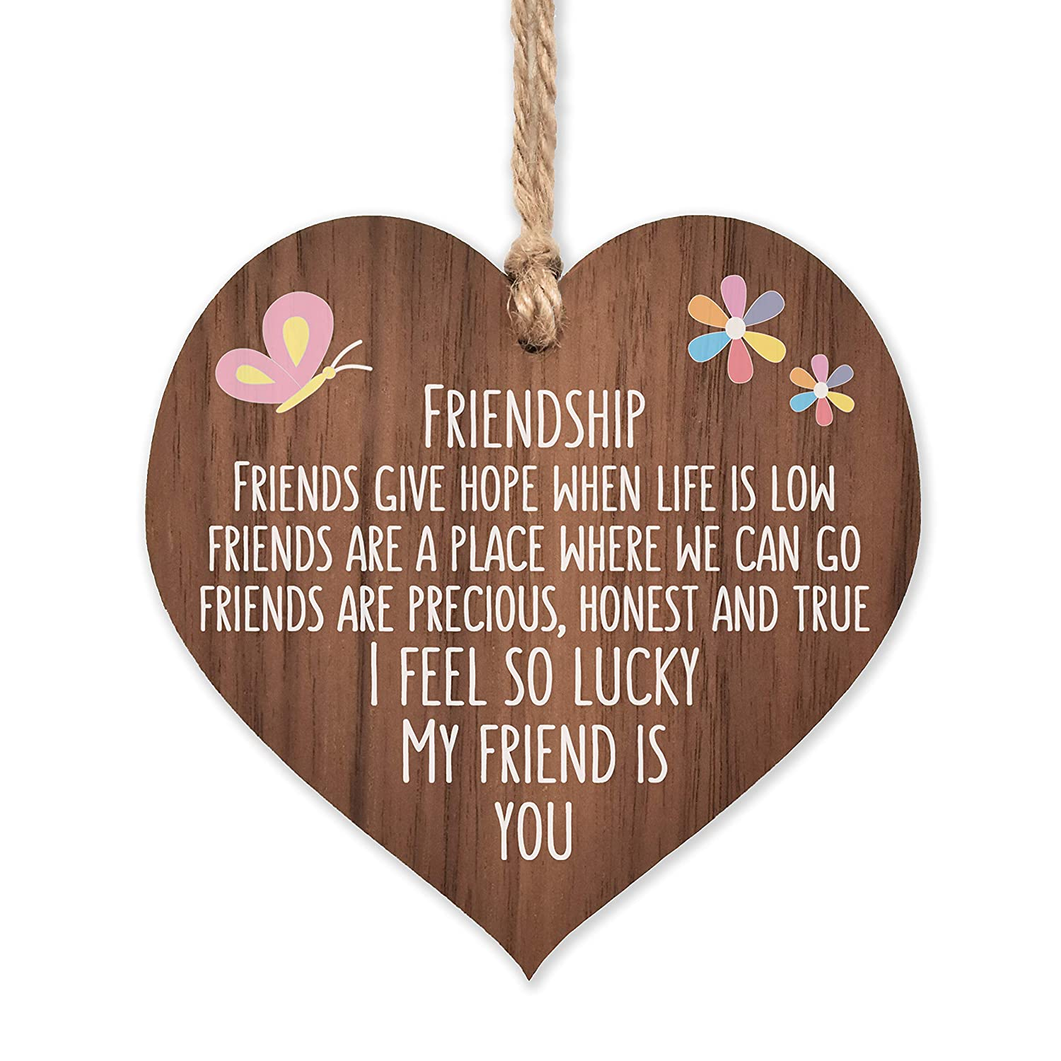 I'm lucky my friend Max 43% OFF is you OFFicial shop he hanging wooden friends best