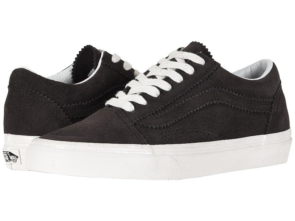 Vans Old Skooltm ((Pinked Suede) Licorice/Blanc de Blanc) Skate Shoes