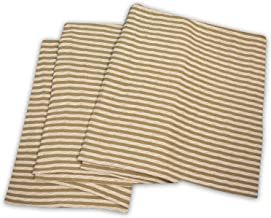 Superior 100% Thermal, Soft and Breathable Cotton for All Seasons, Bed Oversized Throw Blanket with Woven Stripe Pattern, ...
