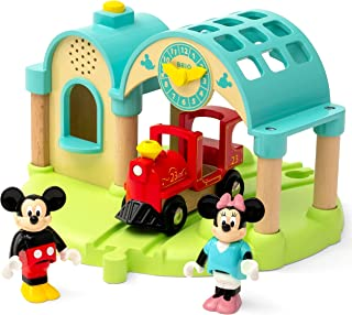 Brio 32270 Disney Mickey and Friends: Mickey Mouse Record & Play Station   Wooden Toy Train Set for Kids Age 3 and Up - Am...