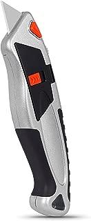 Internet's Best Auto-Loading Utility Knife - Retractable Razor Knife Set - Box Cutter Locking Razor Knife - Storage Pouch Extra Blade Refills - Easy Change